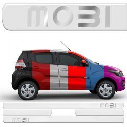Jogo Friso Lateral Fiat Mobi Resinado Incolor