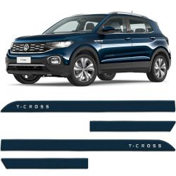 Friso Lateral T-Cross 2020 Azul Norway Facão