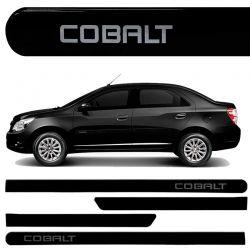 Jogo de Friso Lateral Cobalt 2016 2017 Preto Carbon Flash