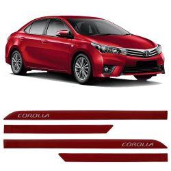Jogo de Friso Lateral Corolla 2015 a 2019 ABS Vermelho Granada