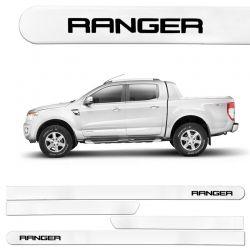 Jogo de Friso Lateral Ranger CD 2013/2017 Branco Ártico