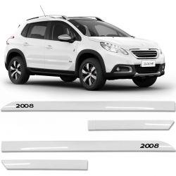 Jogo De Friso Lateral Peugeot 2008 2015 a 2019 Facão Branco Nacre