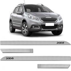 Jogo De Friso Lateral Peugeot 2008 2015 a 2020 Facão Cinza Gris Aluminium