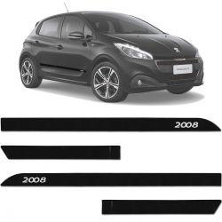 Jogo De Friso Lateral Peugeot 2008 2015 a 2019 Facão Perla Negra