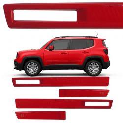 Jogo de Friso Lateral TopMix para Jeep Renegade Vazado Cor Vermelho Colorado