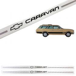 Jogo de Soleira Resinada Chevrolet Caravan 1976/1991 Prata