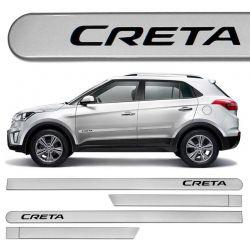 Jogo Friso Lateral Hyundai Creta 2017 Prata Metal