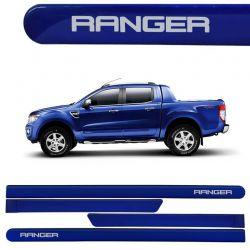 Jogo de Friso Lateral Ranger CD 2013/2017 Azul Aurora