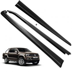 Kit Protetor de Borda Amarok CD 2010 a 2019 Lateral e Tampa Caçamba