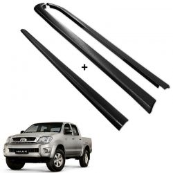 Kit Protetor de Borda Hilux CD 2005 a 2015 Lateral e Tampa Caçamba