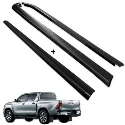 Kit Protetor de Borda Hilux CD 2016 a 2019 Lateral e Tampa Caçamba