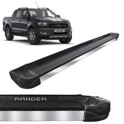 Estribo Lateral Ranger 2013 a 2019 Cinza Moscou Stribus