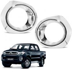 Aplique Cromado do Farol de Milha Toyota Hilux 2005 a 2012