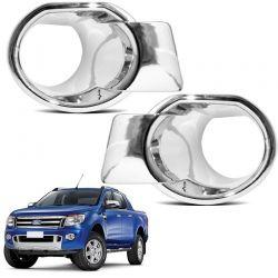 Moldura Do Farol de Milha Ford Ranger 2013 a 2016 Cromado