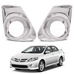 Aplique Cromado do Farol de Milha Toyota Corolla 2012 a 2015