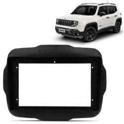 Moldura do Painel Jeep Renegade 2015 a 2021 9 Polegadas Preto