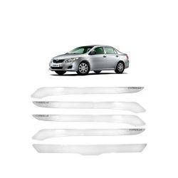Friso Protetor Parachoque Corolla 2008 a 2012 Transparente Grafia Preto ou Prata