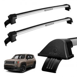 Rack de Teto Travessa Prata New Wave Eqmax Jeep Renegade