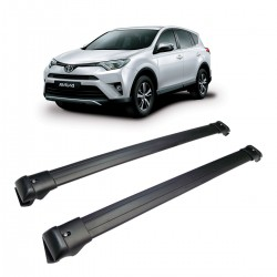 Rack Travessa de Teto Em Aluminio Preto Toyota RAV4 2013/..