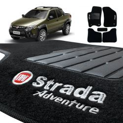 Tapete Carpete Strada CD 2013 2014 Preto Adventure Bordado