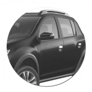 Aplique de Maçaneta Renault Duster Kwid Logan e Sandero 2014 a 2021 Cromado