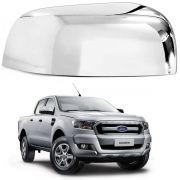 Aplique Retrovisor Ford Ranger 2013 a 2016 Cromado Lado Direito