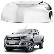 Aplique Retrovisor Ford Ranger 2013 a 2021 Cromado Lado Esquerdo