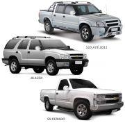 Aplique Retrovisor S10 Blazer Silverado 1995 a 2011 Cromado Lado Direito