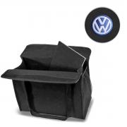 Bolsa Organizadora Porta Malas Logo Volkswagen Carpete Preto 20 Litros