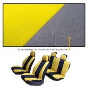 Capa de Banco Automotivo Modelo Universal Preto com Amarelo