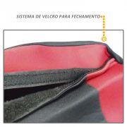 Capa de Banco Automotivo Modelo Universal Preto com Vermelho