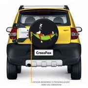 Capa de Estepe Crossfox 2005 a 2019 Macaco Na Rede Com Cadeado