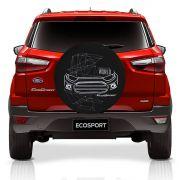 Capa De Estepe Ecosport 2003 a 2019 Estampa Connected to The World