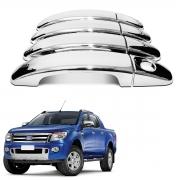 Aplique de Maçaneta Cromada Ford Ranger 2013 A 2021 Shekparts