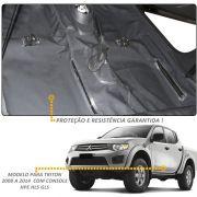 Capa Assoalho Vinil Grafite L200 Triton 2012 2014 S/Console