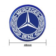 Emblema Adesivo Roda Esportiva Calota Resinado 48mm Mercedes