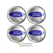 Emblema Adesivo Roda Esportiva Calota Resinado 48mm Ford