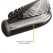Estribo Lateral F1000 F4000 Até 92 Com Chapa Aluminio Preta
