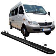 Estribo Lateral Tubolar Aço Carb Chapa Sprinter 413D Preto