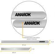 Jogo de Friso Lateral Amarok CD 2010 a 2021 Prata Sargas