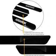 Jogo de Friso Lateral Amarok CD 2010 a 2021 Preto Mystic