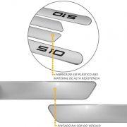 Jogo de Friso Lateral S10 CD 2012 a 2021 Prata Switchblade