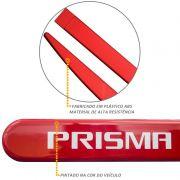 Jogo de Friso Lateral Prisma 2007 a 2019 Vermelho Pepper