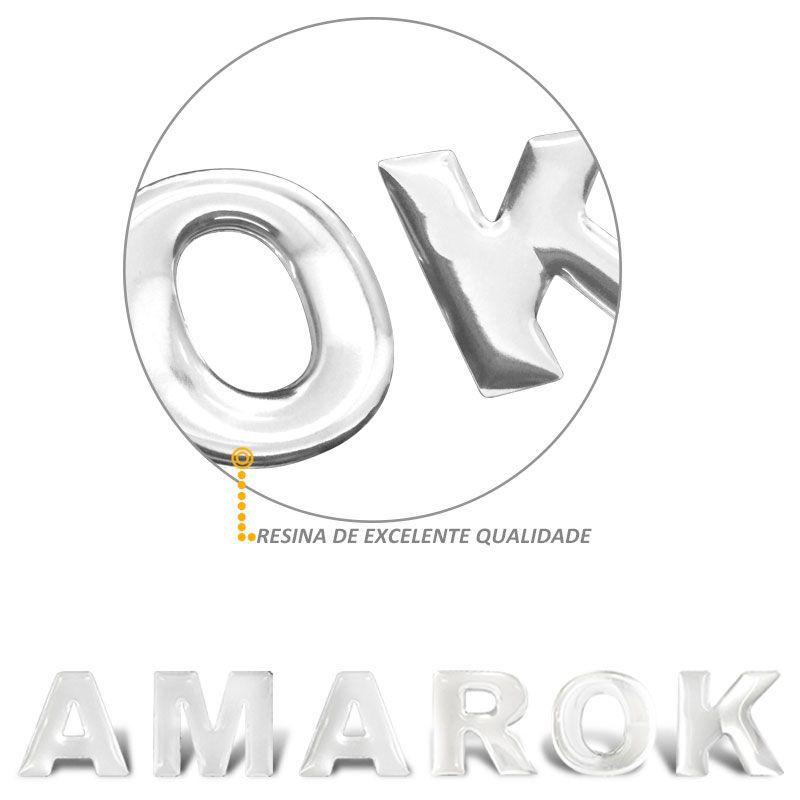 Adesivo de Capo Amarok 2010 a 2019 Frontal Cromado Resinado