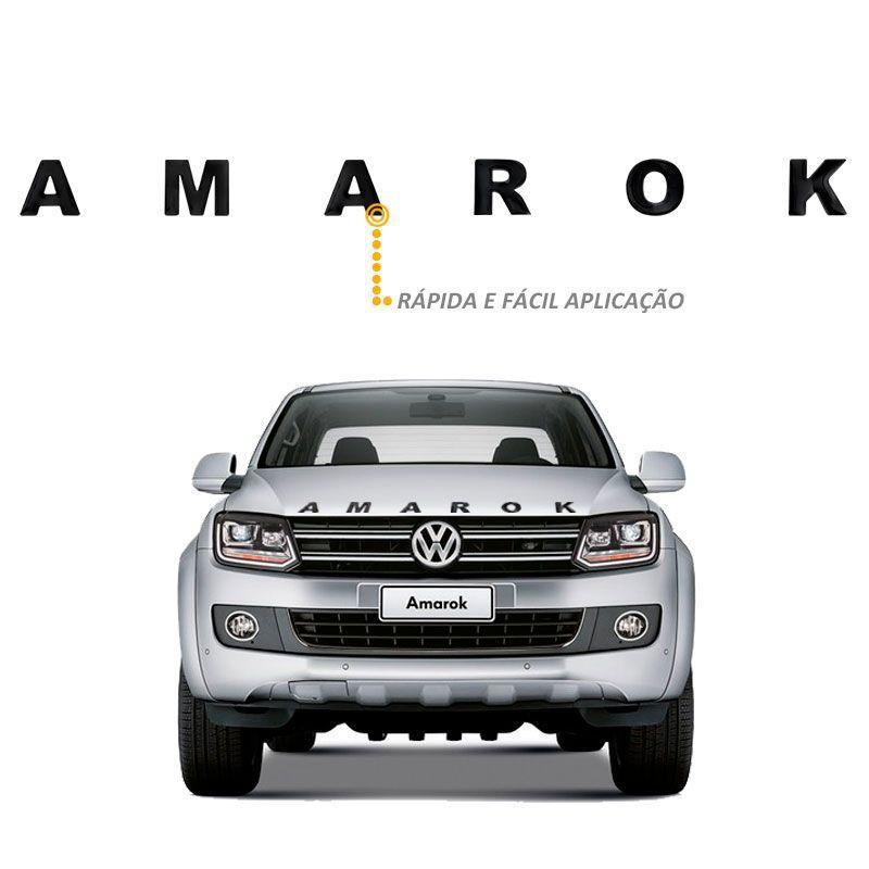 Adesivo de Capo Amarok 2010 a 2020 Frontal Preto Resinado