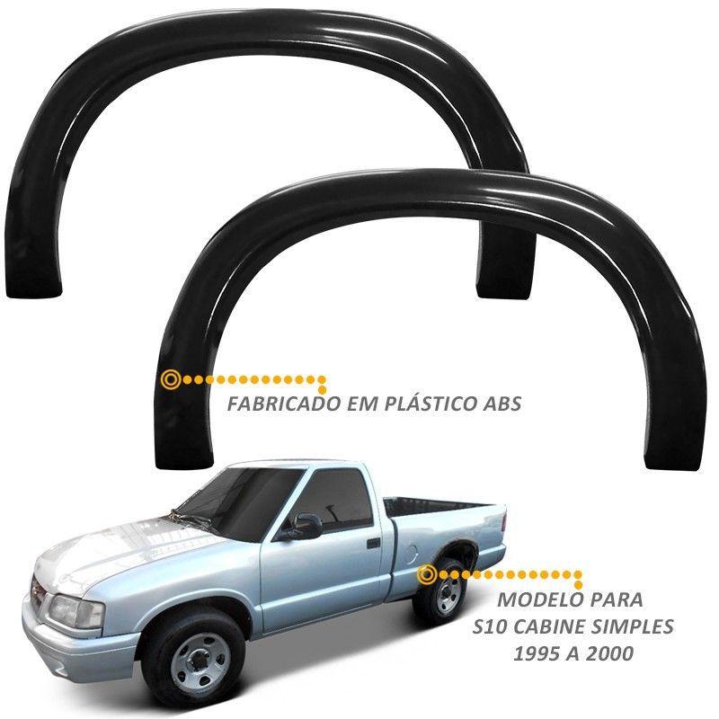 Alargador de Paralama S10 CS 1995 a 2000 Traseiro 02 Peças