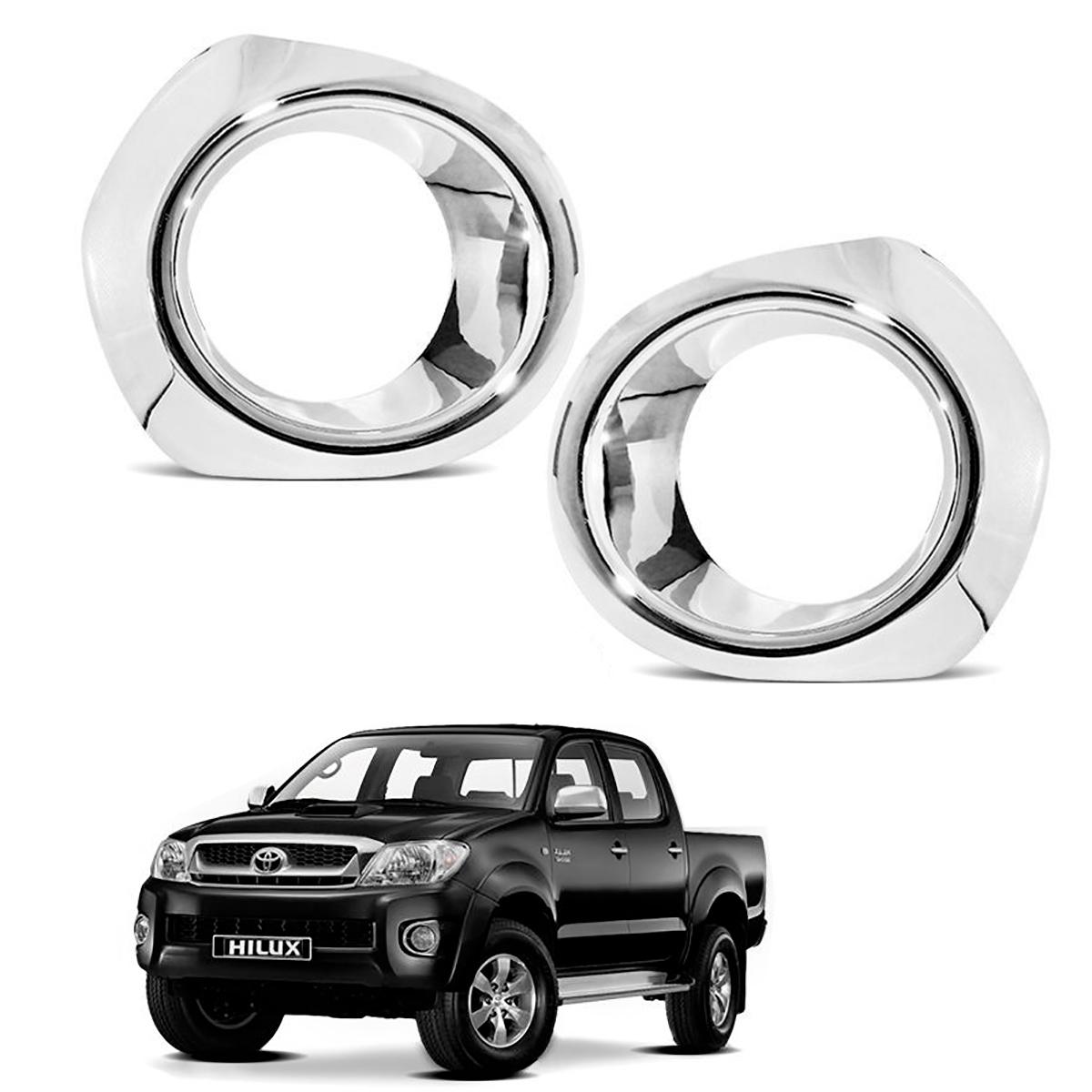 Aplique Cromado do Farol de Milha Toyota Hilux 2005 a 2011