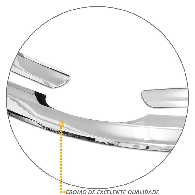 Aplique da Grade Frontal Corolla 2012 a 2014 Cromado