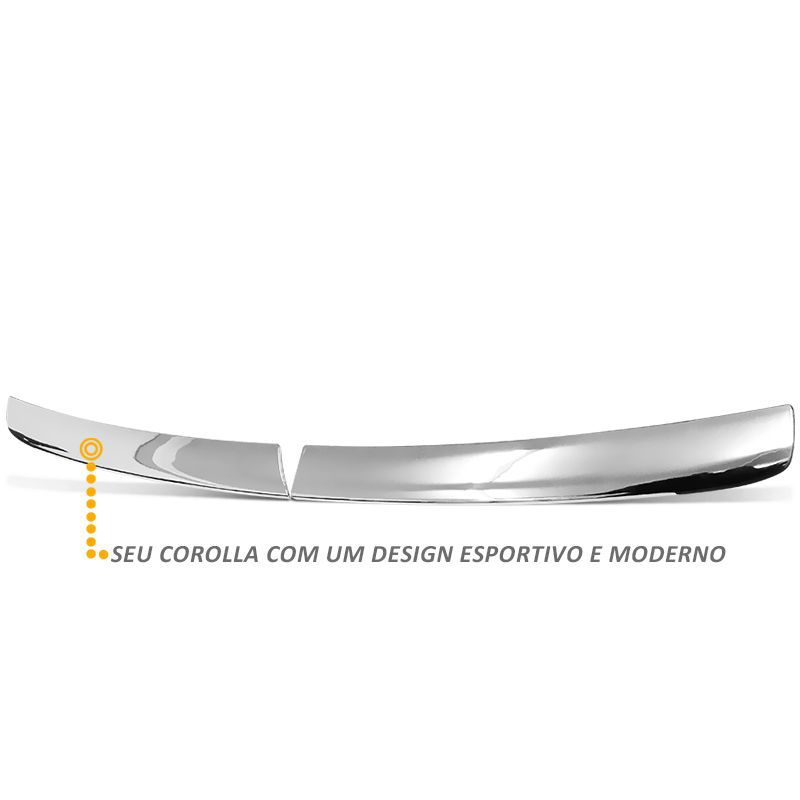 Aplique Grade Frontal Gol G5 2008 a 2012 Cromado