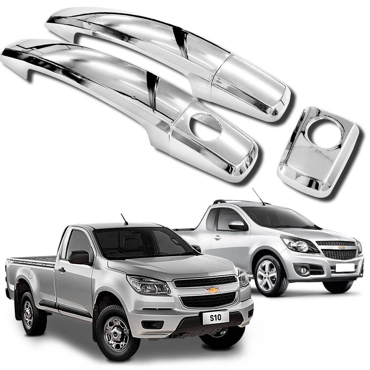 Aplique de Maçaneta Chevrolet Montana  S10 2010 e 2021 Cromado